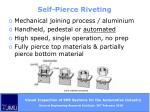 self pierce riveting