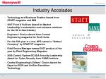 industry accolades