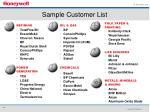 sample customer list