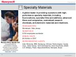 specialty materials