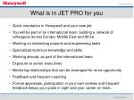 what is in jet pro for you