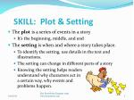 skill plot setting