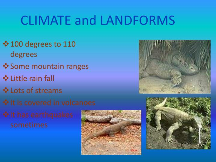 CLIMATE and LANDFORMS
