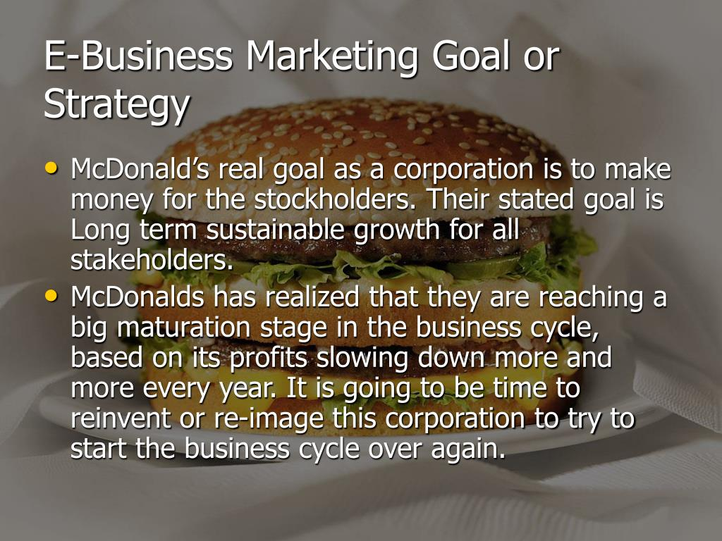 E-Business Marketing Goal or Strategy