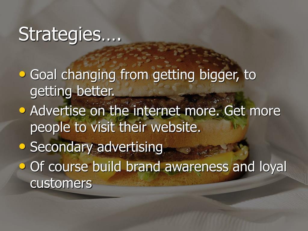 Strategies….