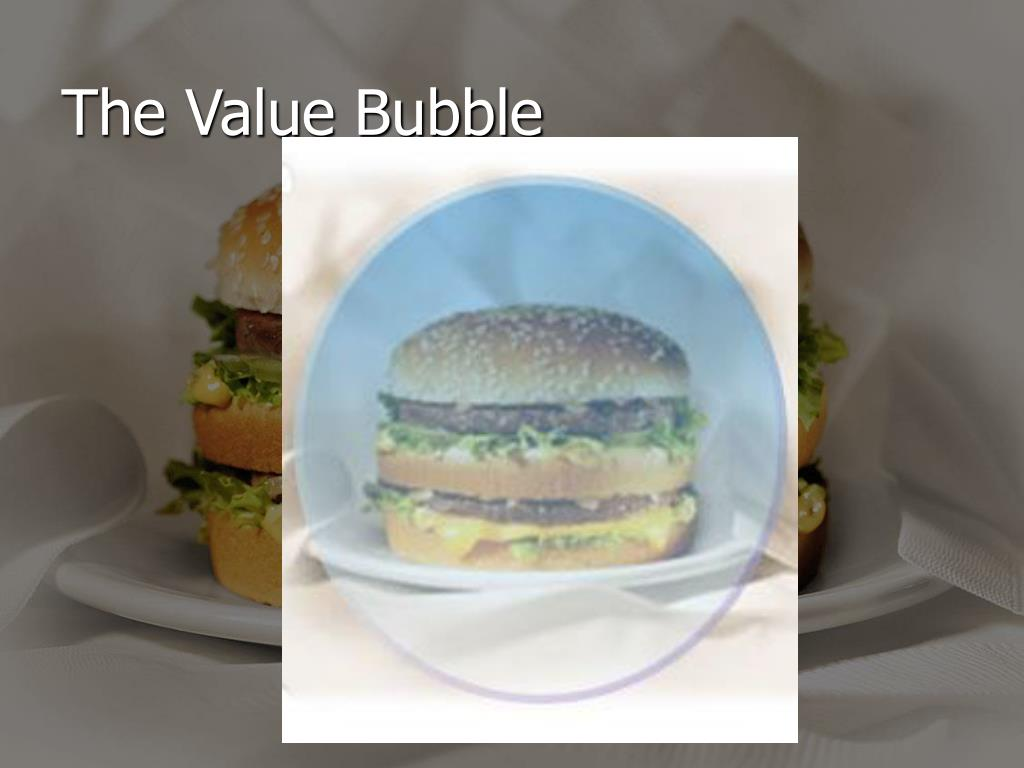 The Value Bubble