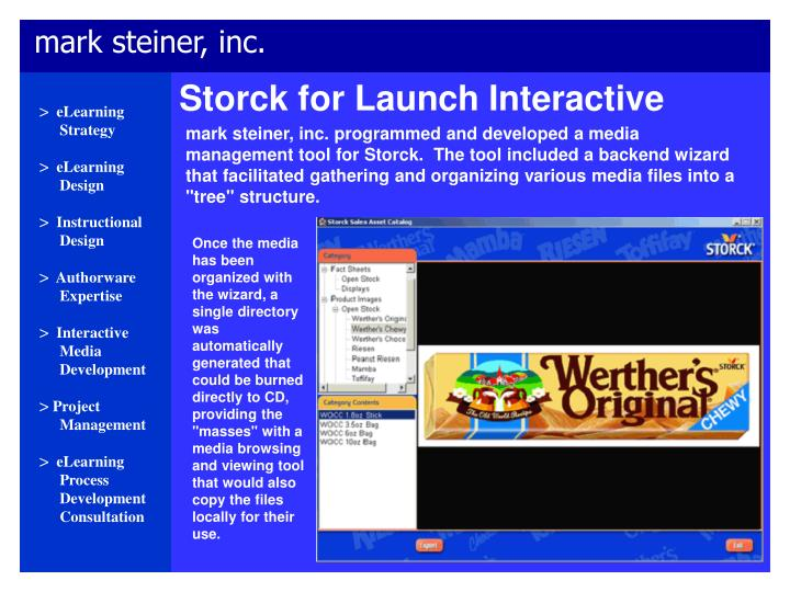 Storck for Launch Interactive