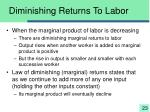 diminishing returns to labor