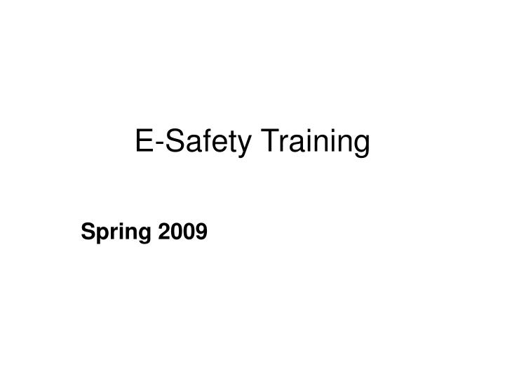 e safety training n.