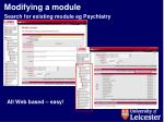 modifying a module