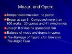 mozart and opera