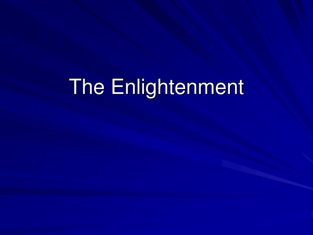 the enlightenment l.