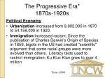 the progressive era 1870s 1920s