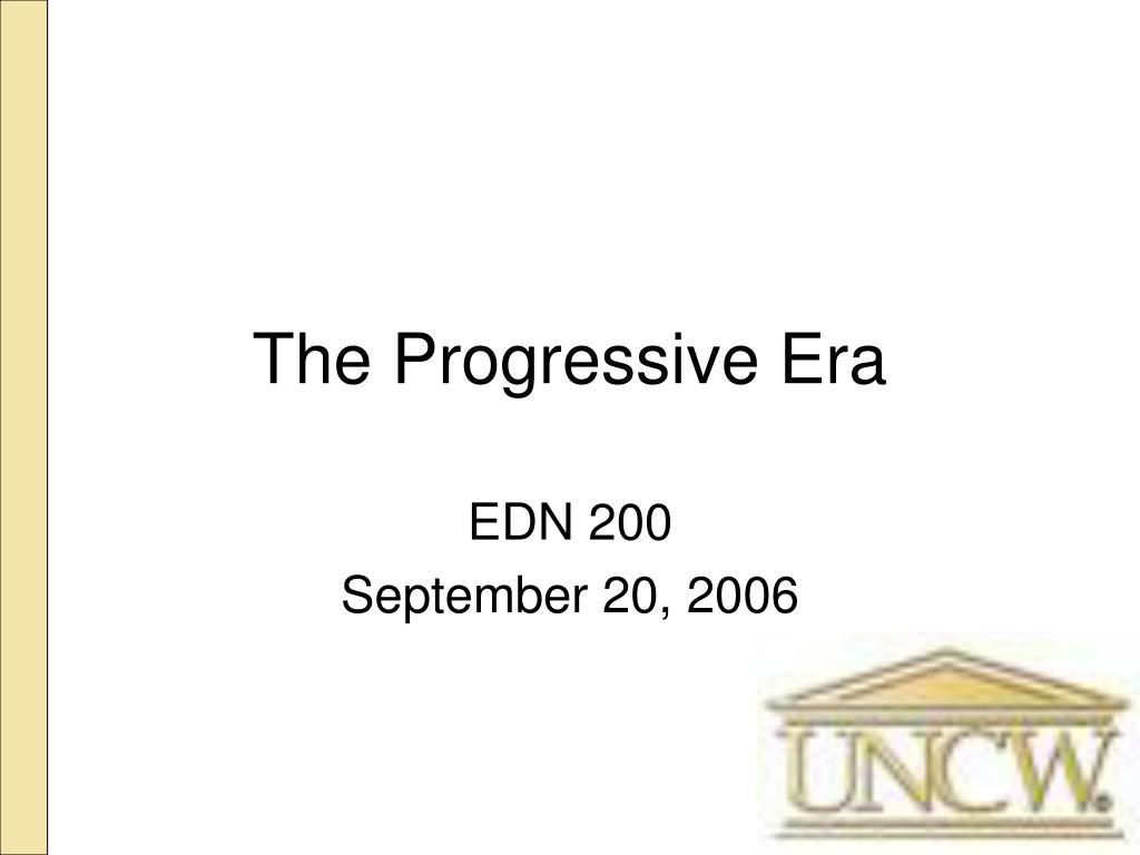the progressive era l.