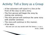 activity tell a story as a group