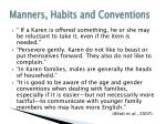 manners habits and conventions36