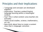 principles and their implications