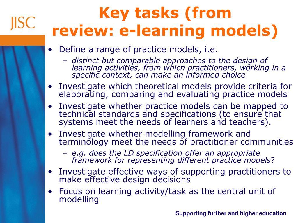 Key tasks (from