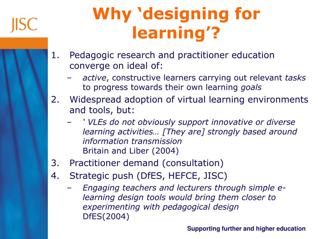 Why 'designing for learning'?