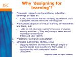 why designing for learning