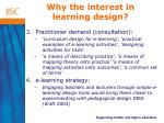 why the interest in learning design16