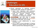 challenges education udl