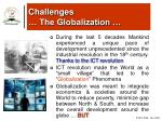 challenges the globalization