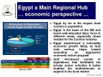 egypt a main regional hub economic perspective