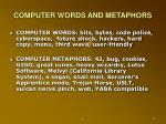 computer words and metaphors