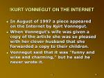 kurt vonnegut on the internet