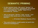 semantic priming