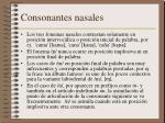 consonantes nasales