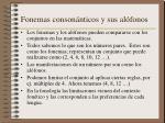 fonemas conson nticos y sus al fonos