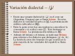 variaci n dialectal