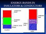energy bands in insulators conductors