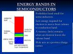 energy bands in semiconductors
