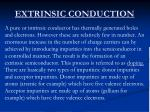 extrinsic conduction