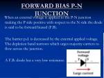 forward bias p n junction