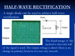 half wave rectification