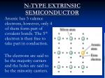 n type extrinsic semiconductor