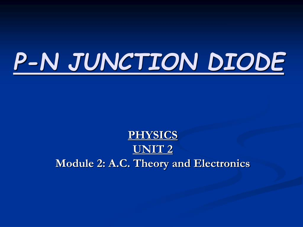 p n junction diode l.