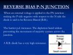 reverse bias p n junction
