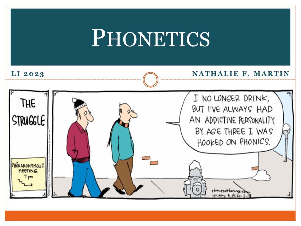 phonetics l.