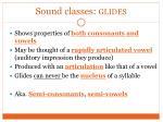 sound classes glides