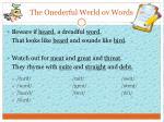 the onederful werld ov words