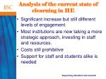 analysis of the current state of elearning in he