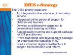 dfes e strategy