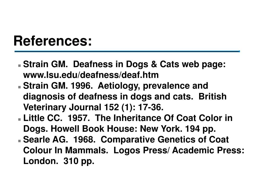 PPT - Deafness in Dogs PowerPoint Presentation - ID:216301