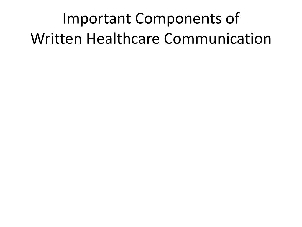 Important Components of