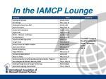 in the iamcp lounge
